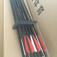 12X31'' Archery Carbon Arrows Hunting Target Practice SP550 Recurve Compound Bow