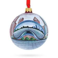 Chicago Bean Glass Ball Christmas Ornament