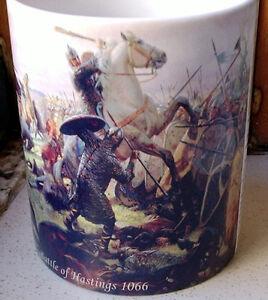 Battle of Hastings 1066 Norman invasion of England Tribute CERAMIC MUG