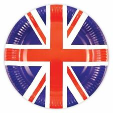10 Union Jack Paper Plates 23cm Royal Wedding Street Party Tableware Supplies