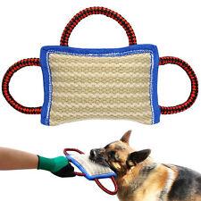 Pet Dog Training Bite Pillow Three Handles Jute Chew Toys For German Shepherd