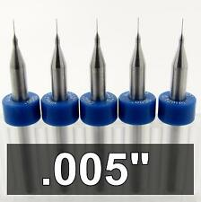 005 Carbide Drill Bits Five Pieces 18 Shaft Cnc Pcb Model Hobby Rs