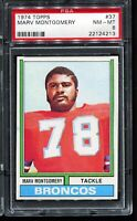 1974 Topps Football #37 MARV MONTGOMERY Denver Broncos PSA 8 NM-MT