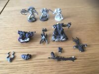 WARHAMMER 40K SMALL JOB LOT/BUNDLE METAL FIGURES SPACE MARINES, CHAOS WARLORD