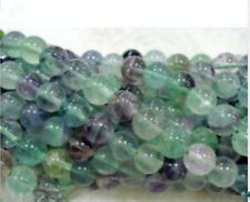 6-10mm Multicolor Fluorite Round Gemstone Loose Beads 15''