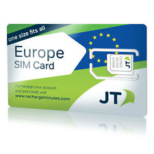 ekit  Europe Travel SIM Card - One low rate for calls, SMS and data