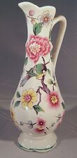 Old Foley Chinese Rose James Kent Pitcher Bud Vase with Birds & Flowers England