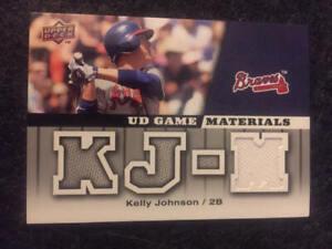 2009 Upper Deck UD Game Jersey Kelly Johnson GU Jersey Card Braves