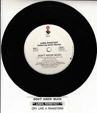 "LINDA RONSTADT & AARON NEVILLE Don't Know Much 7"" 45 record + juke box strip"