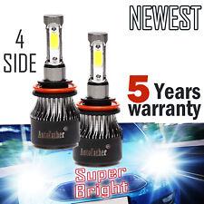 2x H11 Led Headlight 1280W 168000Lm H8 H9 Low Beam Cree Fog Bulbs 6000K Hid