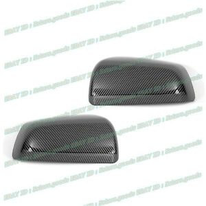 For 2008-2014 Mitsubishi Lancer Glossy Black Carbon Fiber Side Mirror Cover Trim