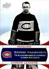 2008-09 Upper Deck Montreal Canadiens Centennial Set George Hainsworth #242