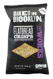 Baked In Brooklyn The Works Flatbread Crisps, 170g