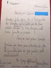 BIANCA BERINI Legendary Italian Opera Singer Handwritten Letter Autograph Rare