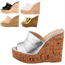 Ladies Women Ladies Fashion Platform Slippers Wedge Heel Sandals 5 Colors Club L