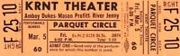 THE AMBOY DUKES / TED NUGENT 1971 UNUSED KRNT CONCERT TICKET / NMT 2 MINT No. 1