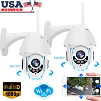 Lot Wireless HD 1080P WiFi 5XZOOM CCTV Outdoor IP Camera Home Security IR Webcam