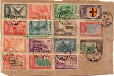 MALAYA,SINGAPORE COVER/POSTCARD,STAMP:1952 2.18 SARAWAK KG VI COMPLETE SET DEFIN