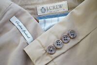 J.Crew Clayton Khaki Brown Cotton Casual Twill Sport Coat Jacket Sz L