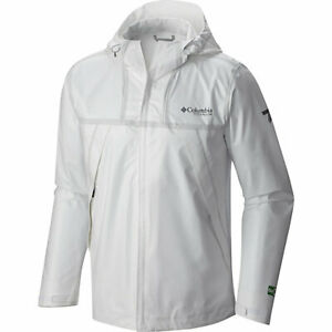 NWT MENS COLUMBIA TITANIUM OUTDRY EX ECO TECH SHELL JACKET $200 L White