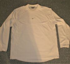 Nike Long Sleeve Pullover Crewneck Men'S White Shirt Xl, Euc