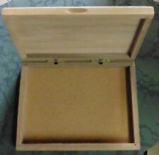 "9"" Hinged Briar Wood Box"