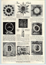 1956 PAPER AD Junghans Ato Lantern Square King Chime Golden Hour Vision Clock