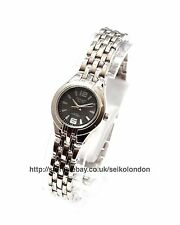 Omax Ladies Black Dial Watch, Silver Finish, Seiko Movt. RRP £49.99