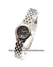 OMAX Damen schwarz Zifferblatt Armbanduhr Silber Finish SEIKO Uhrwerk