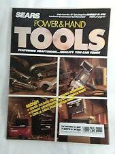 1990 SEARS CRAFTSMAN POWER & HAND TOOLS CATALOG ADVERTISING Mechanic FARM