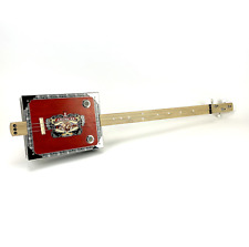 Cigar Box Guitar American 3 String Fretless Electro Acoustic