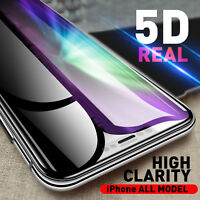 5D Full Cover Tempered Glass Screen Protector for iPhone X 8 7 6 6S Plus