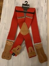"Carhartt Men's Dungaree Suspender Red A108Red 46"" Length One Size"