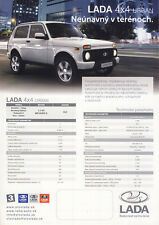 2017 MY Lada 4x4 Urban 10 / 2016 catalogue brochure Slovakia Slovaquie Niva