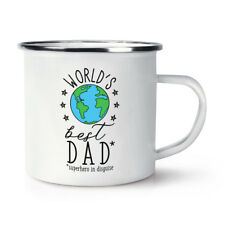 World's Best Dad Retro Enamel Mug Cup - Fathers Day Funny Gift Present Camping