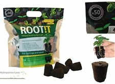 ROOT iT Rooting 50 Natural Sponge Cubes Refill Propagation Peat & Bark ROOT!T