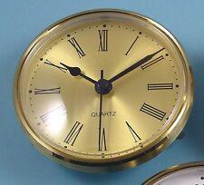 MEGA-QUARTZ 85mm BEZEL Quartz Clock  insert movement  Gold Roman dial