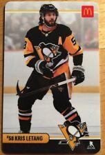 Kris Letang McDonalds Pittsburgh Penguins Collectible Gift Card No Value