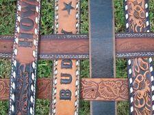 handcrafted upcycled VINTAGE folding WESTERN belt LAWNCHAIR aluminum frame ooak