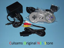 SNES Controller, AC Adapter Power Cord & AV Cables for Super Nintendo System