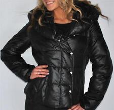 New Womens Authentic Via Spiga Black Down Jacket Coat Large