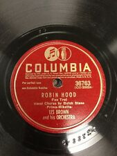 Les Brown Robin Hood / Sleigh Ride In July Columbia Record 78RPM #36763