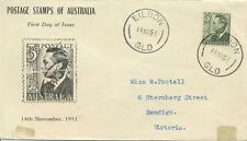 Stamp Australia 3d green KGV1 on Rouvre Cox  specific FDC, identity seal at back