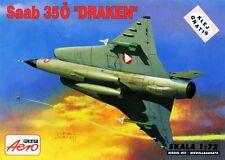 SAAB J 35 DRAKEN (DANISH AF ! MARKINGS) 1/72 AEROPLAST