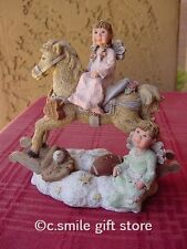 "Sarah's Attic ""Horsin Around"" 1995/1996 Collectors Club figurine Le w/Coa Rare!"
