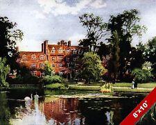 EMMANUEL COLLEGE CAMBRIDGE ENGLAND ENGLISH LANDSCAPE ART PAINTING CANVAS PRINT