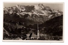 Germany - Partenkirchen mit Dreitorspitze - Vintage Real Photo Postcard