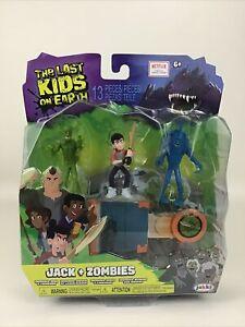 Netflix The Last Kids On Earth Toys Jack Zombies Figure 13pc Playset Jakks 2019