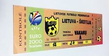used ticket LITHUANIA - SCOTLAND 05.09.1998