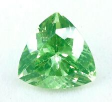 9.60 Ct Natural Green Peridot Faceted Trillion Cut Certified Loose Gemstone